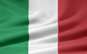 rippled Italian flag